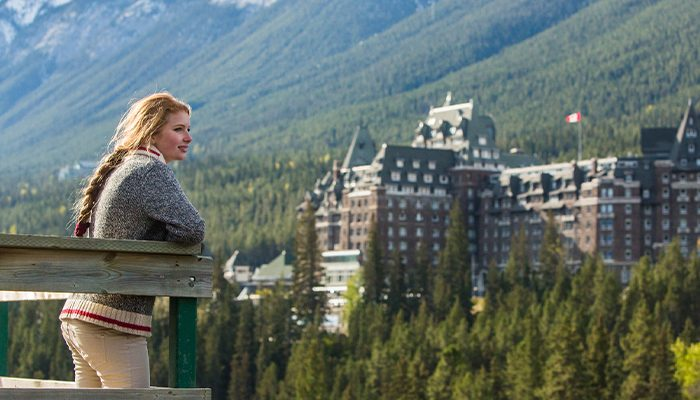 View of the Fairmont Banff Springs